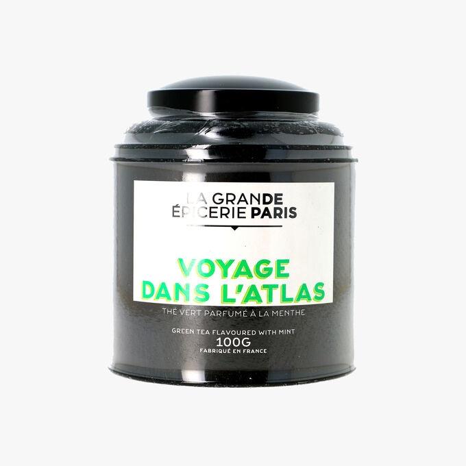 Voyage dans l'Atlas, thé vert parfumé à la menthe La Grande Épicerie de Paris