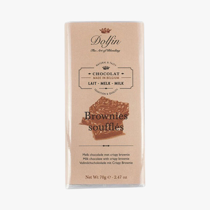 Milk chocolate with crisp brownie bits Dolfin