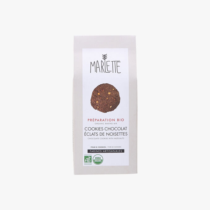 Préparation bio pour cookies chocolat éclats de noisettes Marlette