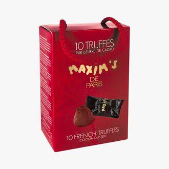 10 truffles, pure cocoa butter Maxim's