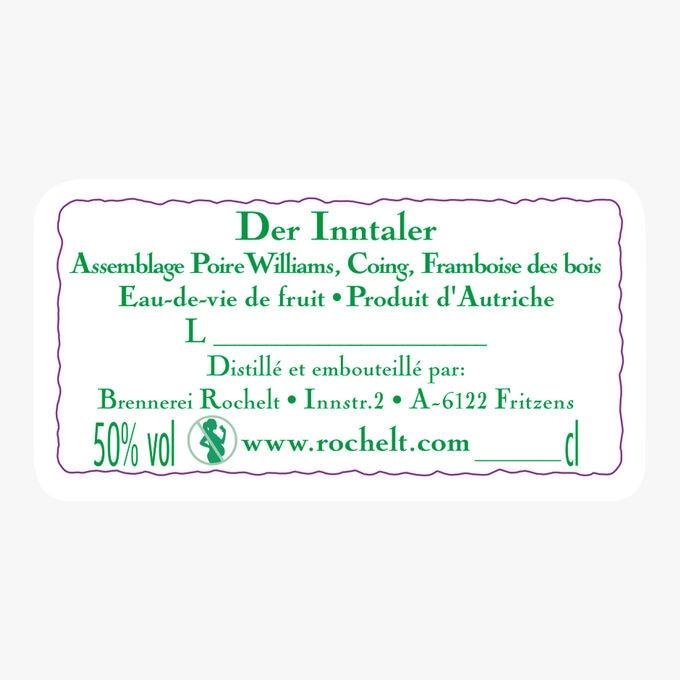 Eau-de-vie Der Inntaler Coing- Poire Williams- Framboise des Bois 2007 Rochelt