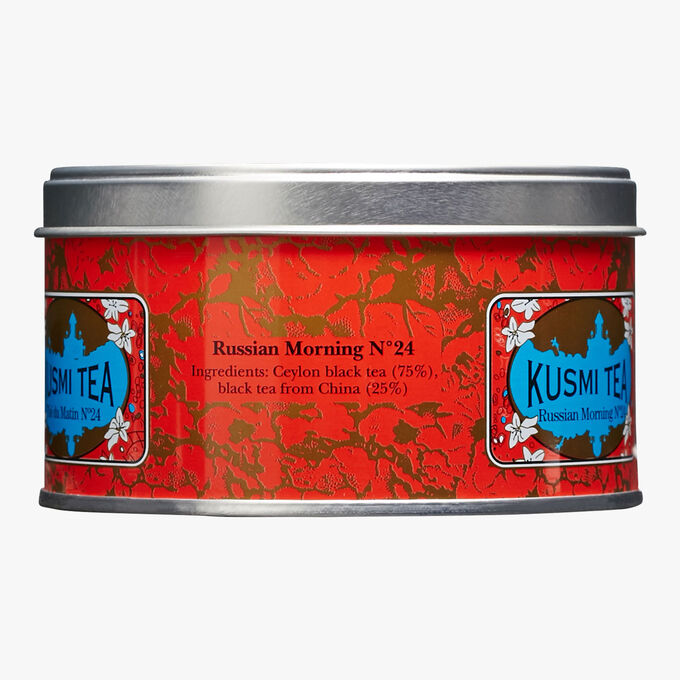 Russian Morning No.24, metal tin Kusmi Tea