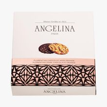 Dark chocolate and orange florentines Angelina