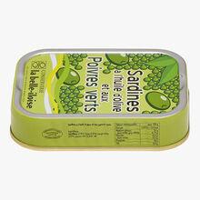 Sardines à l'huile d'olive et aux poivres verts Conserverie la Belle-Iloise