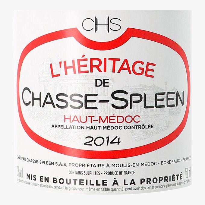 L'Héritage de Chasse-Spleen, AOC Haut-Médoc, 2014 L'Héritage de Chasse-Spleen