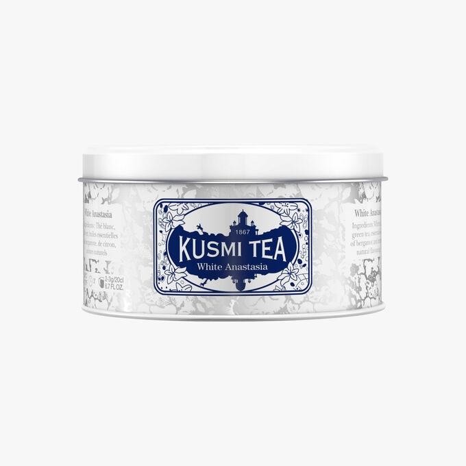 White Anastasia boîte métal Kusmi Tea
