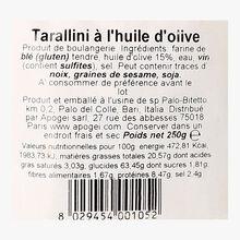 Tarallini with olive oil Les deux siciles