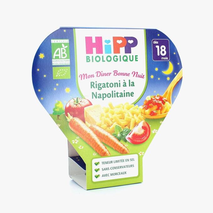 Plat complet adapté à l'enfant : rigatoni à la napolitaine HiPP