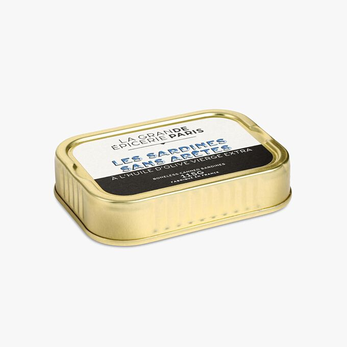 Sardines sans arêtes à l'huile d'olive vierge extra La Grande Épicerie de Paris