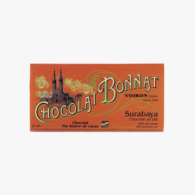 Tablette Surabaya chocolat au lait 65 % de cacao Bonnat