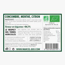Soupe bio concombre, menthe, citron Marcel Bio