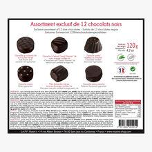 Exclusive assortment of 12 dark chocolates Maxim's