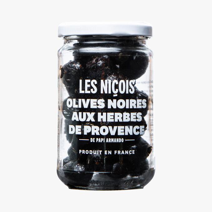 Olives noires aux herbes de Provence de Papi Armando Les Niçois