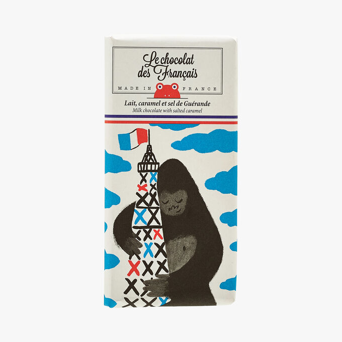 Lait, caramel et sel de Guérande - Illustration Rebecca Clarke Le Chocolat des Français