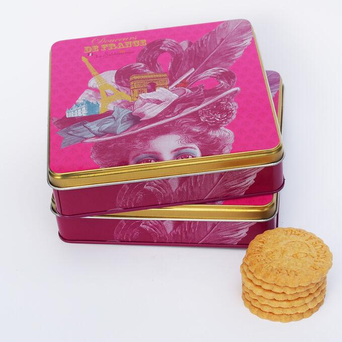 Plain shortbread biscuits, Douceurs de France box La Sablésienne