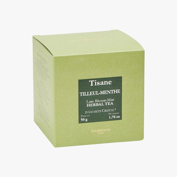 Tisane Tilleul Menthe - Boîte de 25 sachets Dammann Frères
