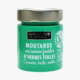 Moutarde herbes folles, saveur coriandre, basilic, menthe Savor et Sens