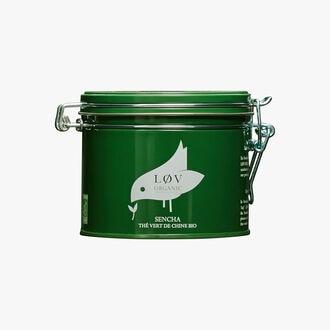 Sencha thé vert de chine bio boîte métal Lov Organic