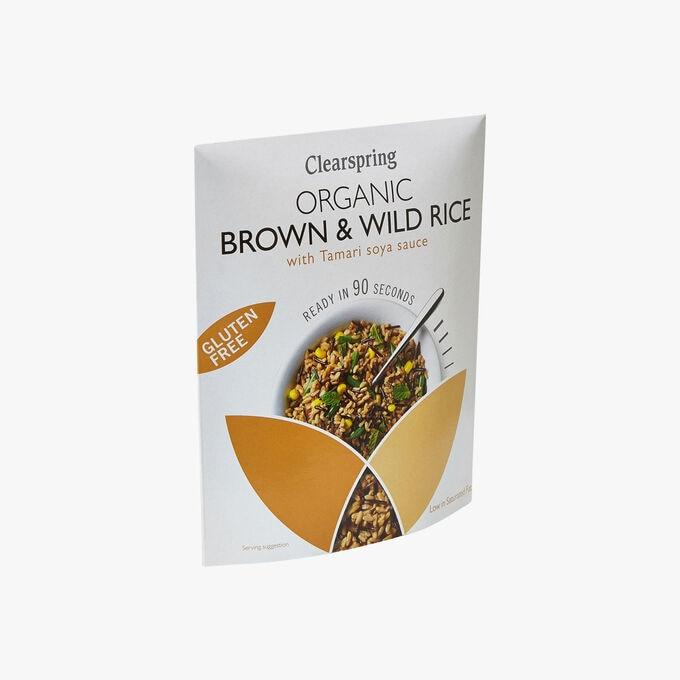 Riz complet & sauvage à la sauce soja tamari Clearspring