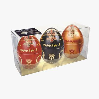Box of 3 mini metal eggs  Maxim's