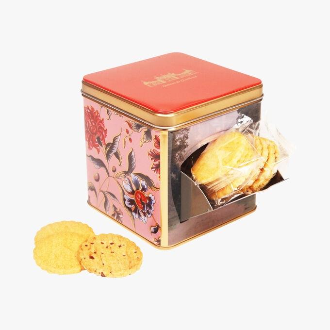Sablés nature, boîte en métal distributrice «Chambord» La Sablésienne