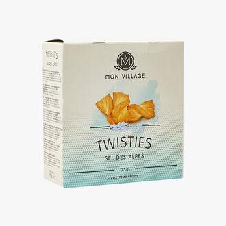 Biscuits Twisties au sel des Alpes Mon Village