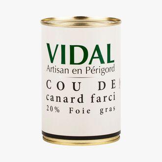 Cou de canard farci 20% foie gras Vidal