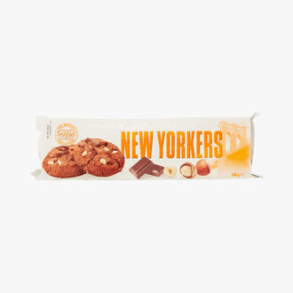 Dark chocolate and hazelnut cookies New Yorkers