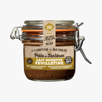 Hazelnut, milk and feuilletine spread Le Comptoir de Mathilde
