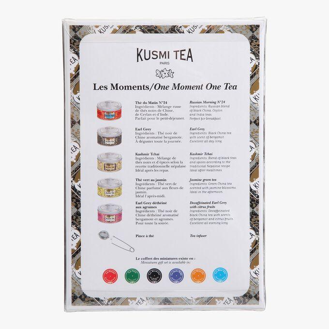 One Moment, One Tea gift set, 5 metal tins Kusmi Tea