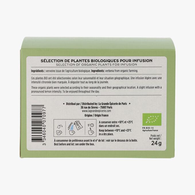L'infusion bio verveine 20 sachets La Grande Épicerie de Paris