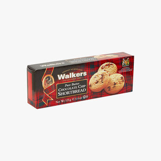 Pure butter shortbread biscuits with chocolate chips Walkers