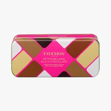 12 assorted butter biscuits in four chocolate flavours Fauchon