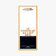 Le chocolat au lait 40 % - Cacao origine Ghana La Grande Épicerie de Paris