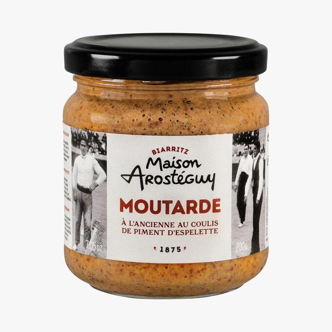 Moutarde à l'ancienne au coulis de piment d'Espelette Maison Arosteguy