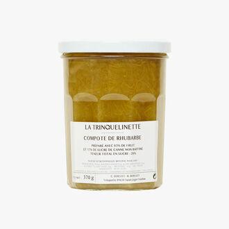Compote de rhubarbe La Trinquelinette