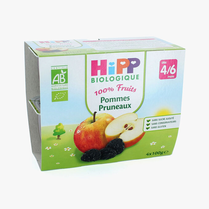 Fruit pots for babies: apple-prune  HiPP