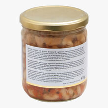 Beans cooked in duck fat Castaing