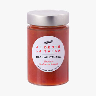 Ragu all'Italiana, tomates et boulettes de viande Al dente la salsa