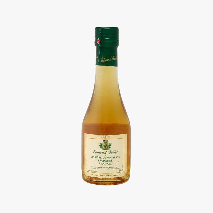 Vinaigre de vin blanc 7% acidité aromatisé à la noix Fallot