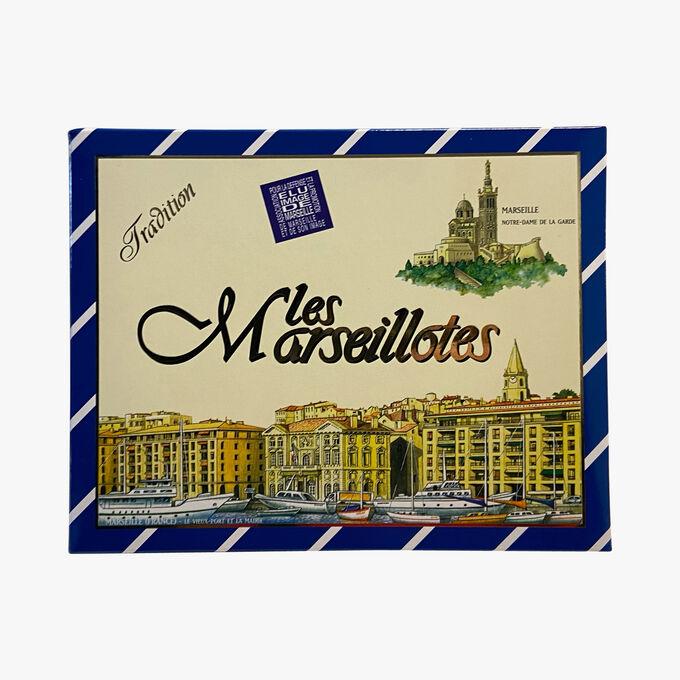 Gourmandises de nougat enrobées de chocolat Les Marseillotes
