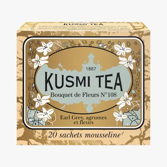 Bouquet of Flowers No.108, box of 20 teabags  Kusmi Tea