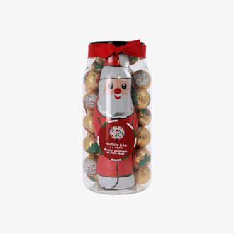 Praline balls and Father Christmas Mallow tree London