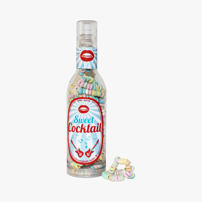 Mini bottle with candy necklaces and fizzy sweets Sophie M