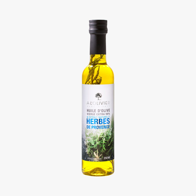 Extra virgin olive oil with a natural extract of Provence herbs A l'Olivier