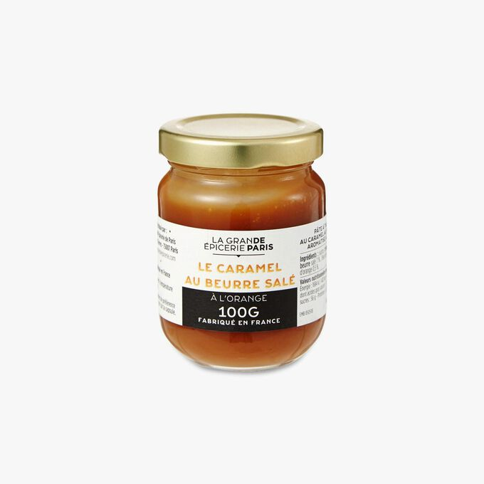 Salted butter caramel spread flavoured with orange La Grande Épicerie de Paris