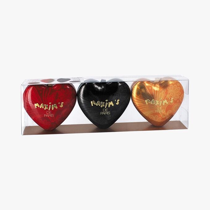 Étui collection 3 minis cœurs Maxim's