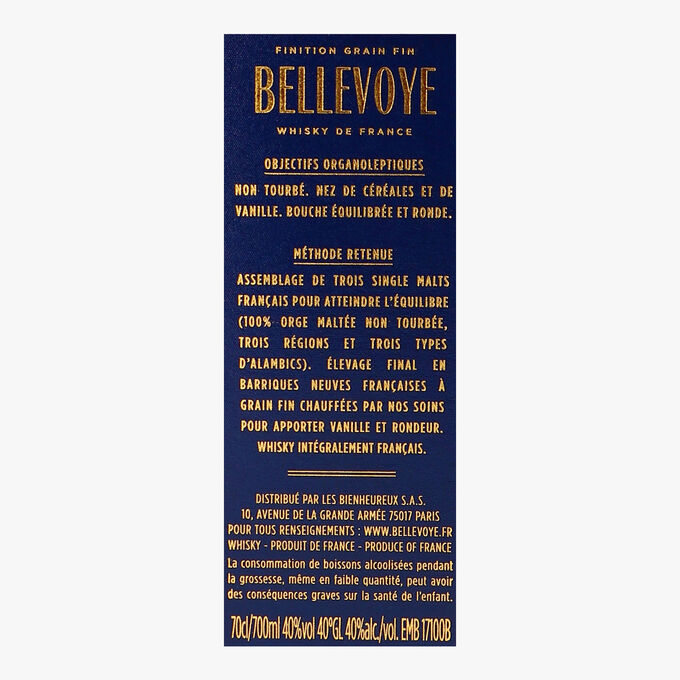 Bellevoye Bleu triple malt whisky Bellevoye Whisky