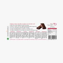 18 fines crêpes dentelle enrobées de chocolat noir Maxim's