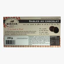 Boîte métal en forme de camionnette - Sablés au chocolat Daniel Mercier